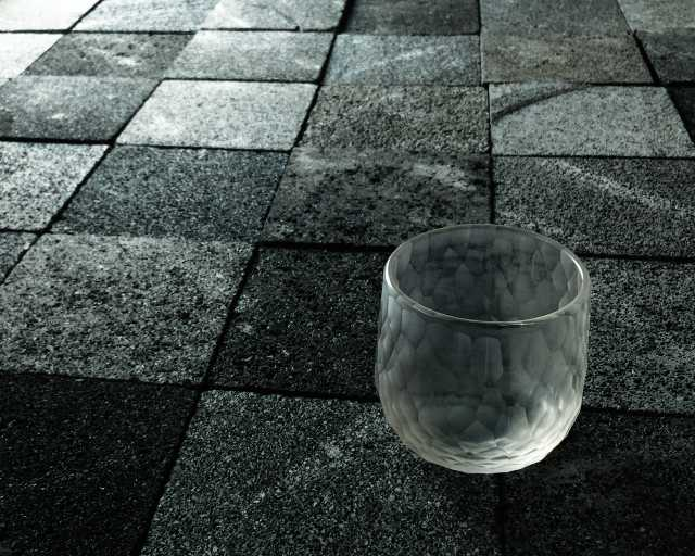 iPhone+Godox A1による撮影例(青樹舎硝子工房を主宰するガラス作家貴島雄太朗氏の作品「削紋」)